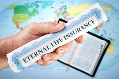 Seguro de vida eterna Imagem de Stock