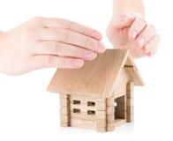 Seguro del concepto de las propiedades inmobiliarias Fotografía de archivo libre de regalías