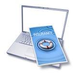 Seguro del ordenador de la ayuda de la tecnología Fotografía de archivo libre de regalías