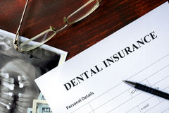 Seguro dentário Imagem de Stock