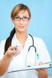 Seguro dos cuidados médicos da pena Fotografia de Stock