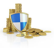 Seguro e conceito financeiros da estabilidade do negócio foto de stock royalty free