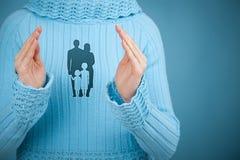 Seguro e política de vida familiar Foto de Stock