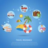 Seguro Infographics del viaje Fotografía de archivo libre de regalías
