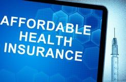 seguro médico asequible Fotografía de archivo
