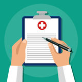 Seguro médico Concepto del cuidado médico Imágenes de archivo libres de regalías