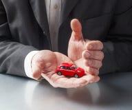 Seguro y protección de coche Imágenes de archivo libres de regalías
