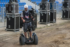 Segway Camera Filming Royalty Free Stock Image