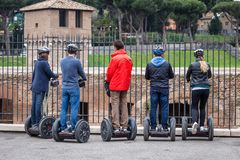 Segway in the city Royalty Free Stock Images