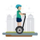 Segway-Designillustration Stockfotografie