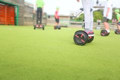 Segway or hoverboards stock photo