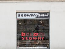 Free Segway Logo In Front Of One Of Their Stores In Prague. Stock Images - 179547224