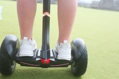 Segway oder hoverboards stockfotografie