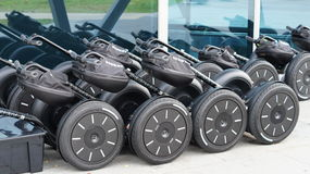 Segway Personal Transport Parking Stock Photography