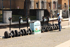 Segway Renter Rome Italy. Segway renter in Rome Italy Stock Images