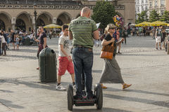 Segway Rider Royalty Free Stock Photography