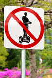 Segway sign and symbol Stock Photography
