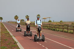 Segway tour Stock Photography