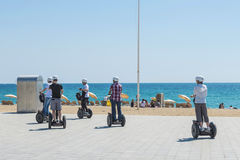 Segway tour Barcelona Royalty Free Stock Photography