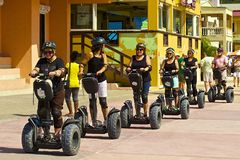 Segway tour in Philipsburg, St Maarten Royalty Free Stock Photography