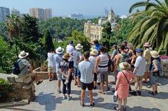 Segway turnerar gruppen Malaga Spanien, Tom Wurl Royaltyfri Fotografi