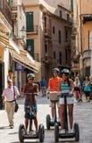 Segway turnerar i Palma de Mallorca Arkivbilder