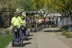 Segway turnerar i Scottsdale Arizona Royaltyfri Bild