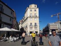 Segway wycieczka turysyczna w lissabon Zdjęcia Stock