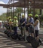 Segway wycieczki turysyczne w Scottsdale Arizona fotografia royalty free