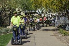 Segwayreizen in Scottsdale Arizona Royalty-vrije Stock Afbeelding
