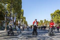 Segways - Journee sans Voiture, Paris 2015 Image stock