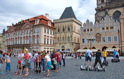 Segways at the Old Town Square in Prague Royalty Free Stock Image