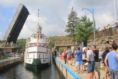 Segwun Entering the Locks at Port Carling Royalty Free Stock Images