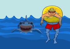 Sehen der Annäherung der Haifische Lizenzfreie Stockbilder