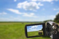 Sehen der Natur durch Kamera Stockfotografie