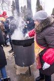 Sehen des russischen Winters stockfoto