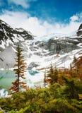 Sehen Sie über oberen Joffrey Lake II an Stockfoto