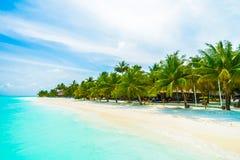 Sehen Sie auf Maldives-Insel vom Flugzeug an Stockbilder