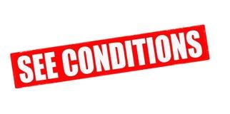 Sehen Sie Bedingungen stock abbildung