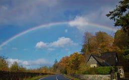Sehen Sie den Regenbogen stockfoto