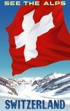 Sehen Sie die Alpen die Schweiz lizenzfreies stockbild