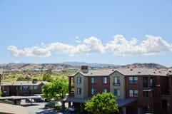 Sehen Sie die Kalifornien-Stadt Valencia an Stockbild