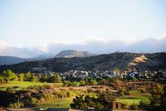 Sehen Sie die Kalifornien-Stadt Valencia an Stockbilder