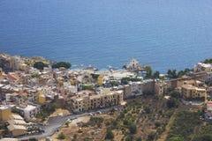 Sehen Sie die Stadt von Sant'Elia an Lizenzfreies Stockfoto
