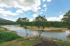 Sehen Sie vom Landhaus das Naturgrün an Lizenzfreie Stockfotografie