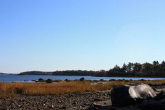 Sehen Sie von der Vetter-Insel an Stockfotos