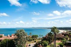 Sehen Sie von der Wal-Halbinsel Punta Ballena, Maldonado, Uruguay an Lizenzfreies Stockfoto