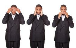Sehen Sie zu hören, kein Übel zu sprechen - Geschäftsmann Stockfotos