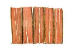 Sehr alte Bücher in Folge Stockfotografie