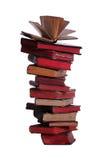Sehr alte Bücher mit offenem Buch auf die Oberseite Lizenzfreies Stockfoto